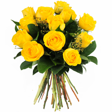 Bouquet of yellow roses. COLOR PALETTE